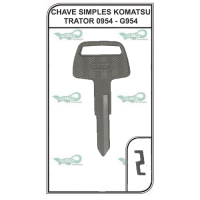 CHAVE SIMPLES KOMATSU TRATOR 0954 - G954